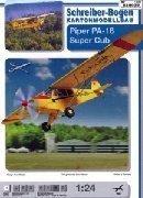 Aerei di carta da ssemblare Piper PA-18 Super Cub 1:24